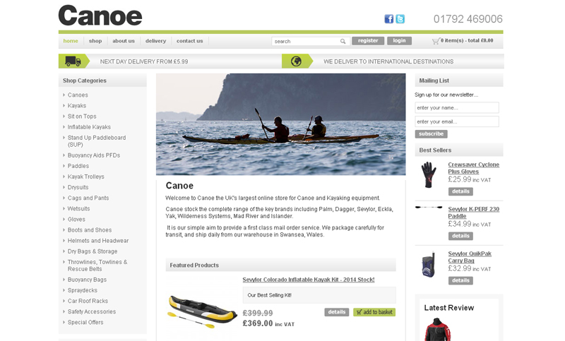 UK Boatlinks: Canoe